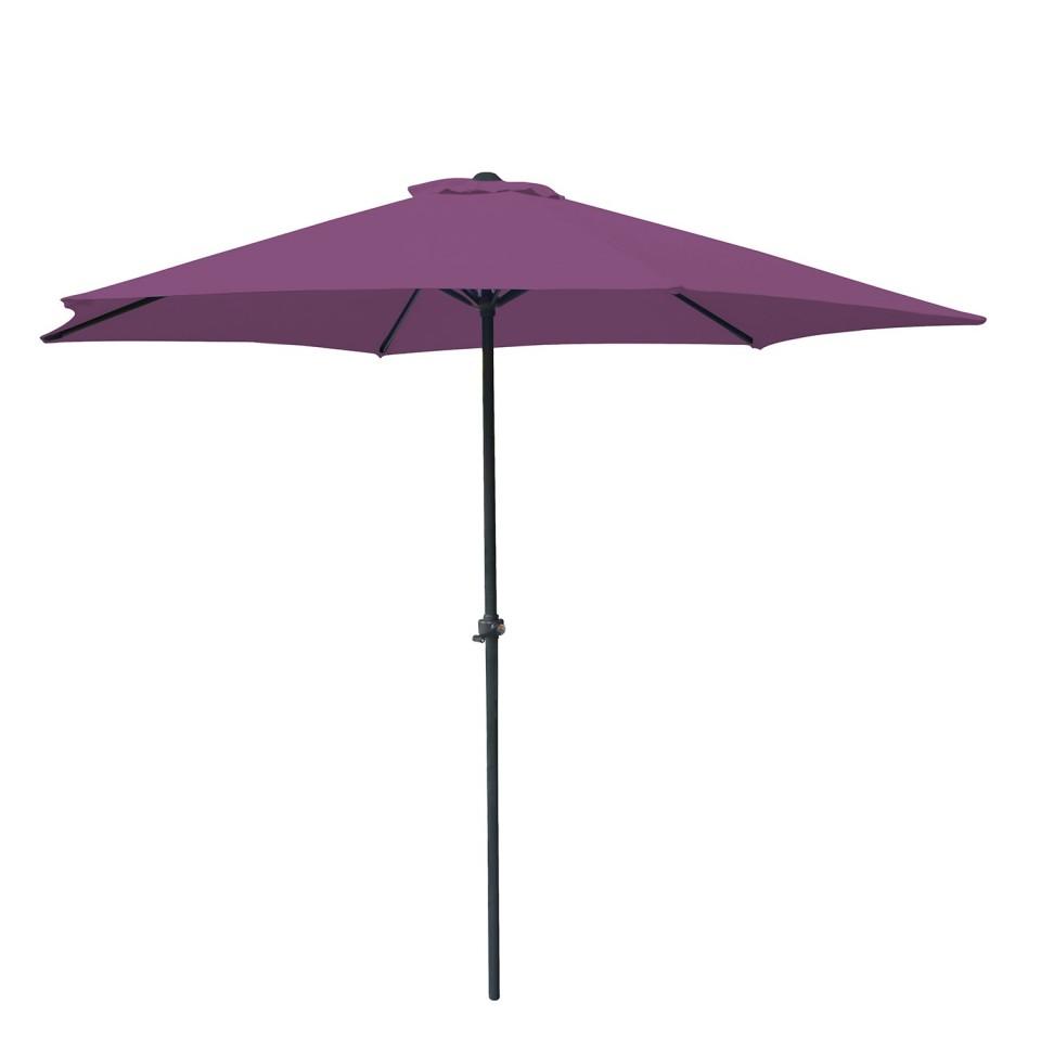 Parasol droit rond 270cm - Violet- OIA