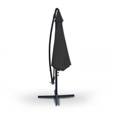 Parasol déporté rond 300cm - Gris - PAROS