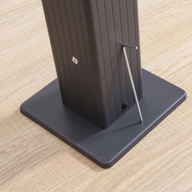 Tonnelle/Pergola aluminium 3x3m toile coulissante rétractable - Gris Anthracite - model Hero
