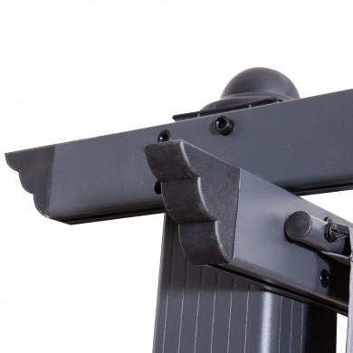 Tonnelle/Pergola aluminium 3x4m toile coulissante rétractable - Gris - model Hero XL