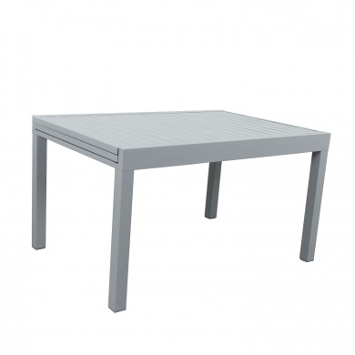 Table de jardin extensible aluminium - 135/270cm - 10 places - Gris-ANDRA