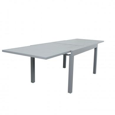 Table de jardin extensible aluminium - 135/270cm - 10 places - Gris-ANDRA