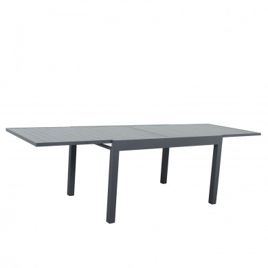 Table de jardin extensible aluminium - 135/270cm - 10 places - Gris Anthracite-ANDRA
