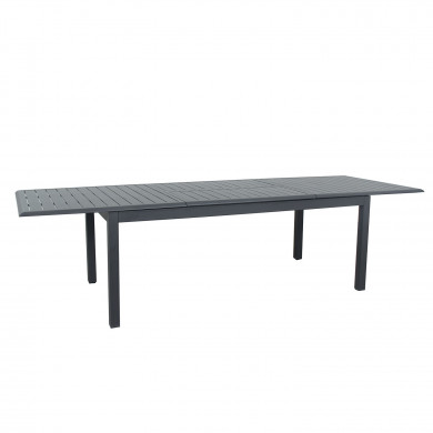Table de jardin extensible aluminium - 220/320cm - 12 places - Gris Anthracite-ANDRA XL
