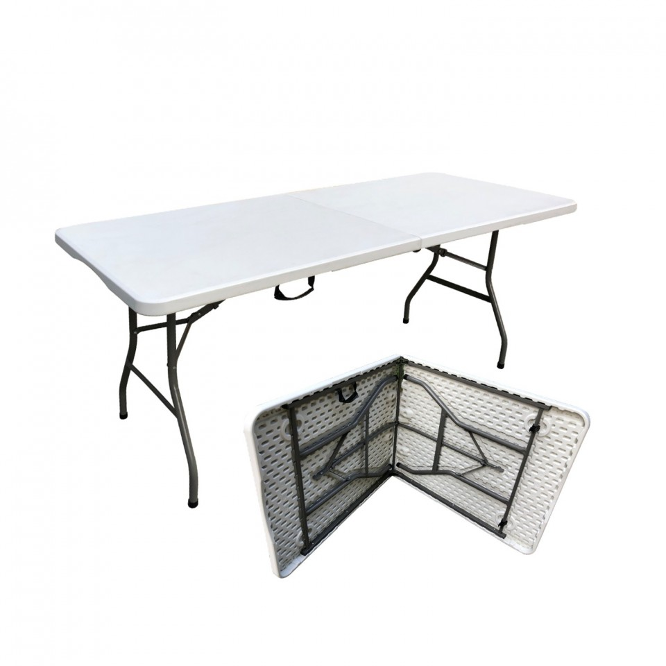 Table de camping pliante portable- 8 places - 180cm