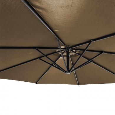 Parasol déporté rond 300cm - Kaki - PAROS