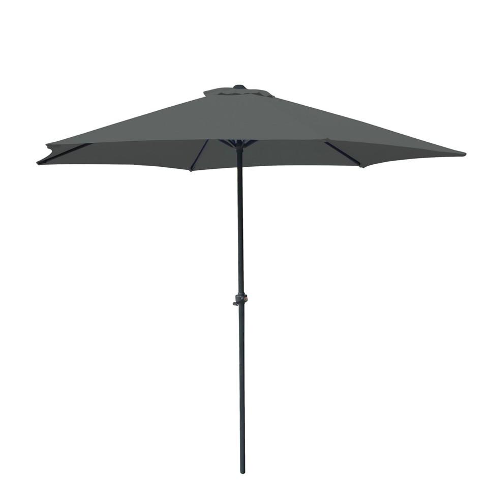 Parasol droit rond 270cm - Gris - OIA