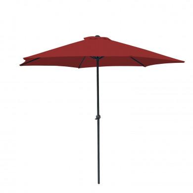 Parasol droit rond 270cm - Rouge- OIA